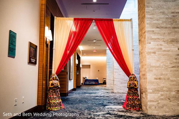 Marvelous Indian wedding ceremony entrance decor.