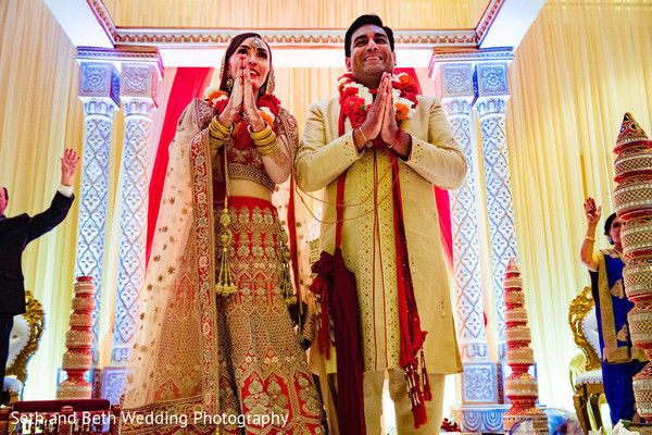 Enchanting Indian couple at ceremony ritual capture.