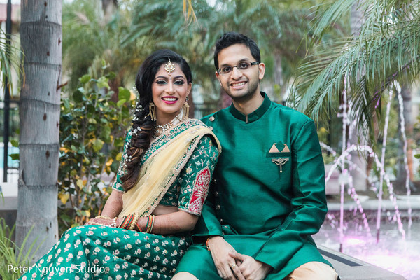 Gorgeous couple posing for pictures