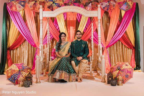 Indian bride and groom looking good