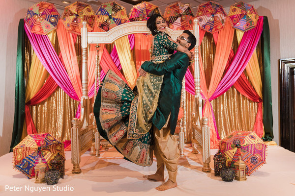 Maharani and groom during pictures