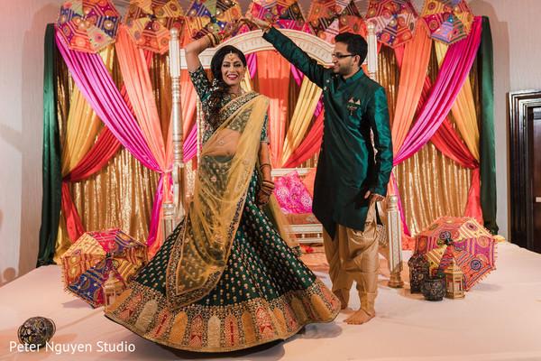 Maharani and Raja dancing