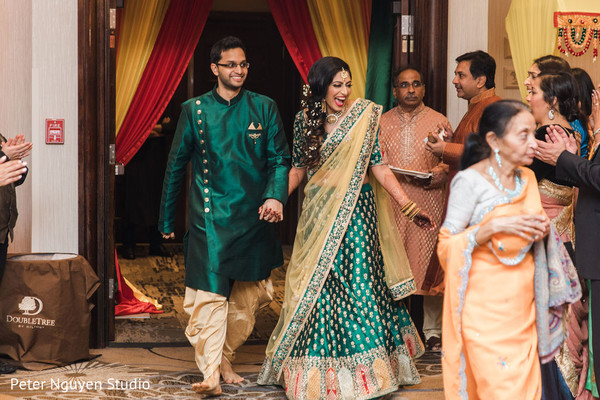 Indian bride making her grand entrance