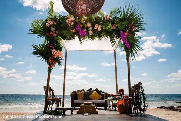 Dreamy Indian wedding ceremony mandap setup.