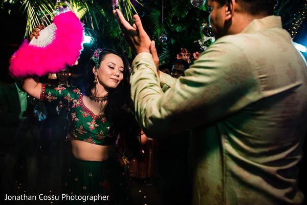 Magnificent Indian brides dance.