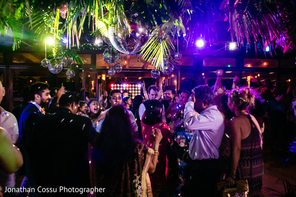 Incredible Indian wedding reception dance capture.