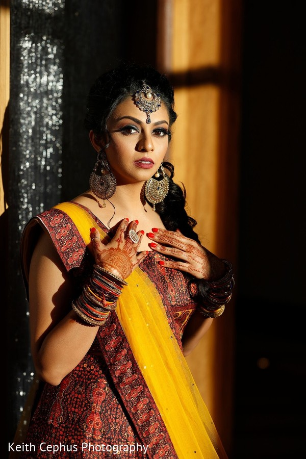 Incredible Indian bridal sangeet look.