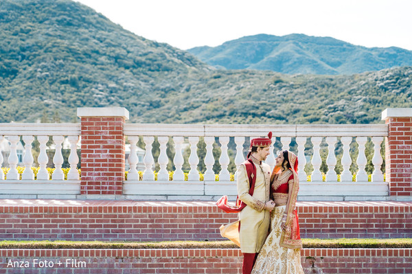 Magical capture of Indian couple outdoors.