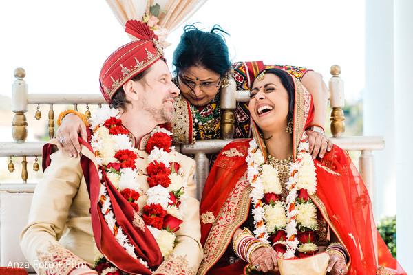 Indian couple at wedding ceremony photo.