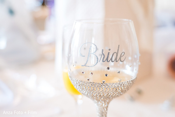 Take a look at this personalized Indian bridal wine glass.