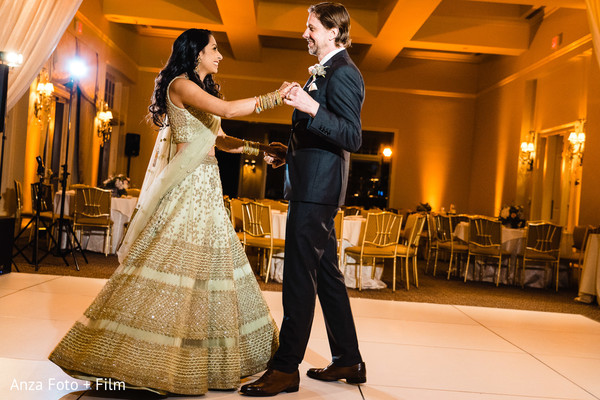 Sweet Indian couple reception dance.