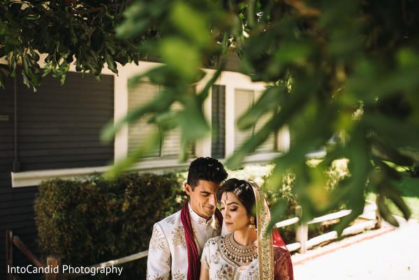 Wonderful Indian couple's outdoors capture.