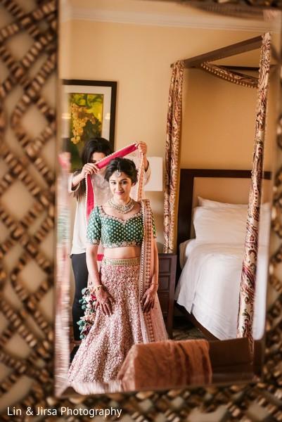 Indian bride dupatta.
