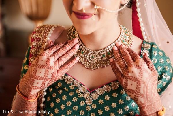 Regal Indian bride's necklace.