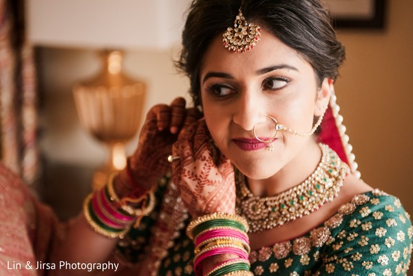 Maharani ready for her wedding ceremony.