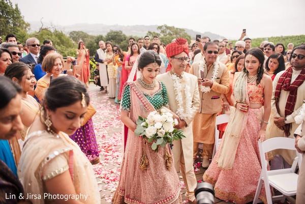 Indian bride ceremony entry