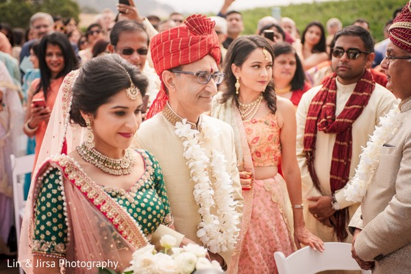 Charming Indian bride's entry.