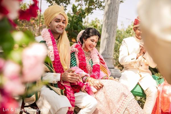 Outdoor Indian wedding ceremony.