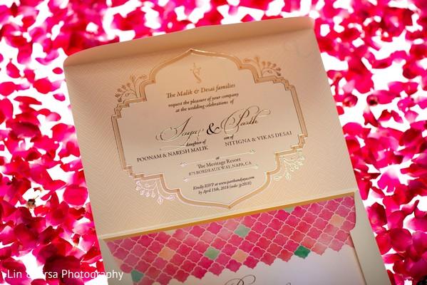 Indian wedding invitation.