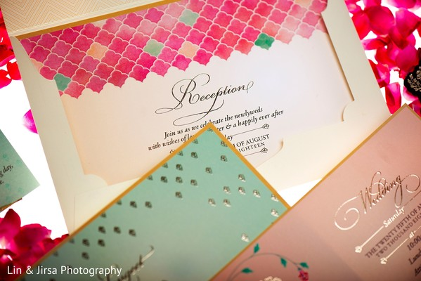 Dreamy Indian wedding invitation set.