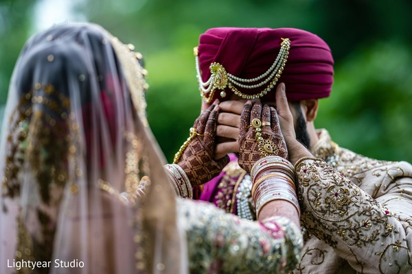 Indian bride and groom looking lovely