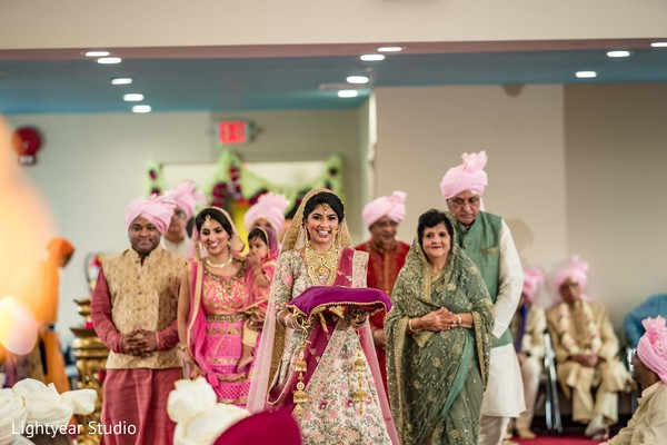 Indian bride making her grand entrance