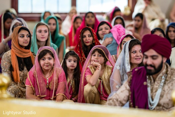 Guests during the ceremony