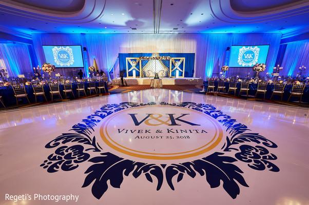 Elegant Indian wedding reception.