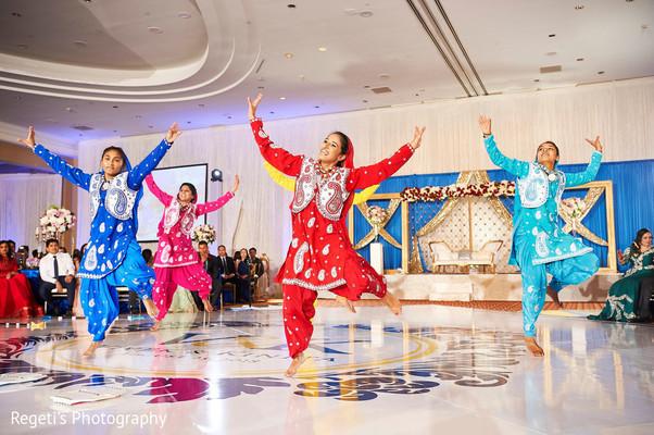 Indian wedding reception entertainment.