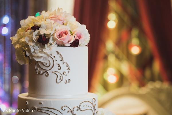 Gorgeous flora wedding cake topper.