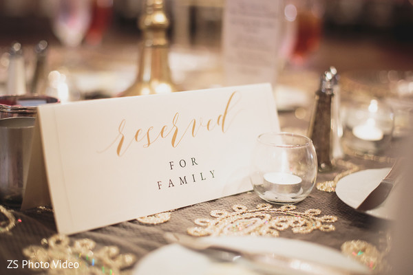 Table reserved sign