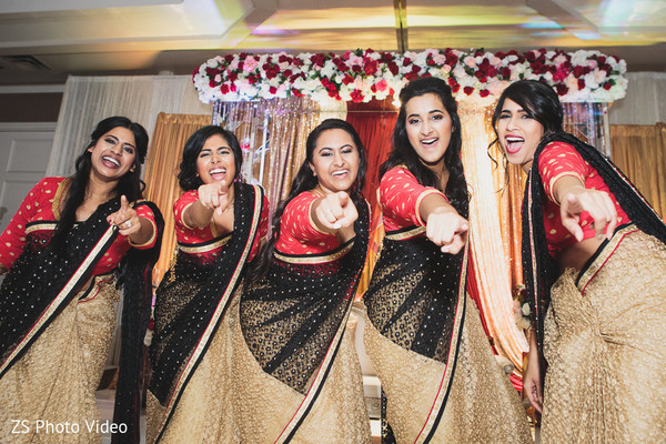 Charming Indian bridal party.