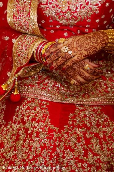 Lengha details of the bride