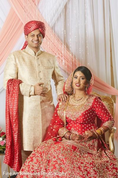 Maharani and Raja posing