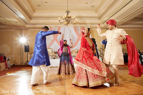 Maharani and groom dancing
