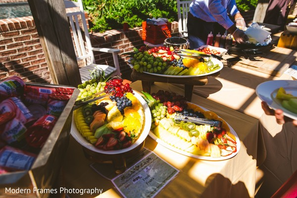 Delicious Indian wedding fruits table.