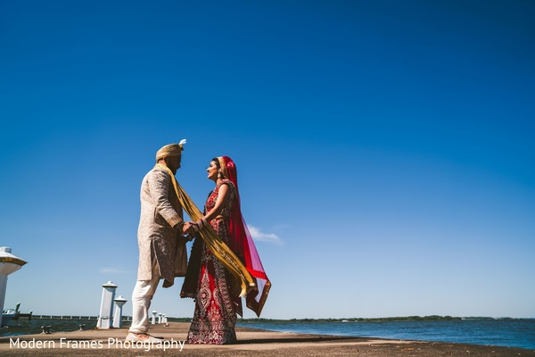 Indian couple just married.