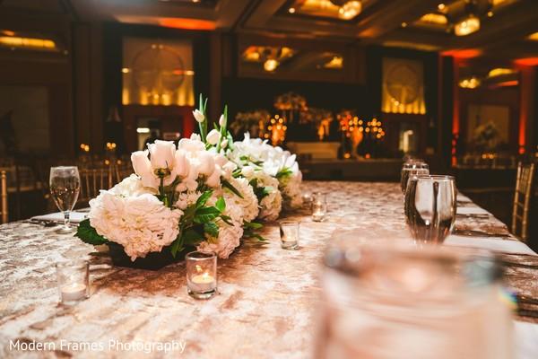 Incredible Indian wedding table centerpiece decor.