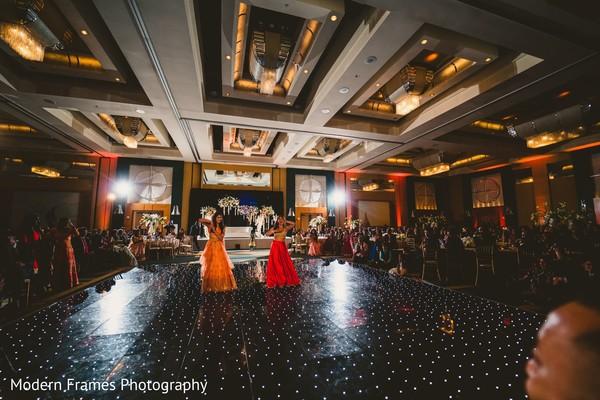 Impressive Indian wedding reception dance performance.