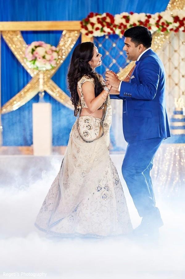 Dreamy Indian couple's reception dance.