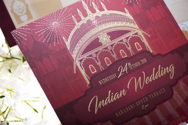Elegant Indian wedding Invitation.