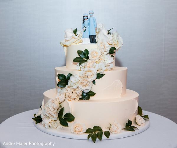 Stunning Indian wedding cake design
