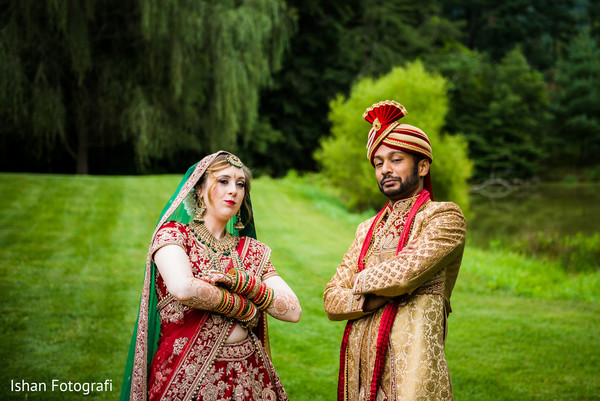 Lovely Indian couple posing for photo shoot.