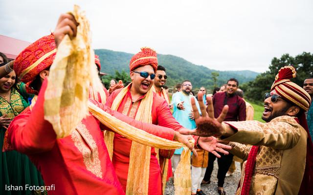 Take a look at this rajah's baraat procession.