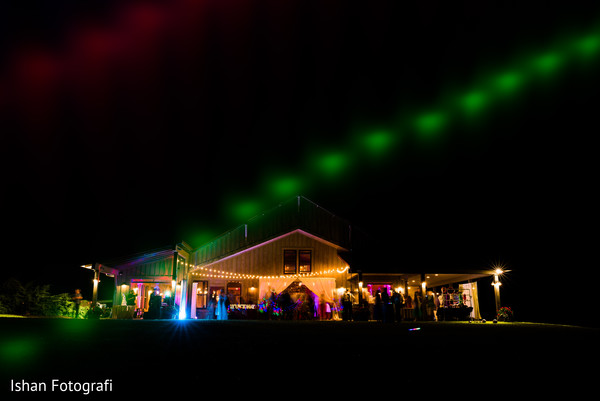 Indian wedding venue lights decoration capture.