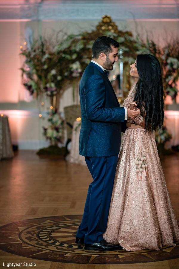 Maharani and groom having their first dance
