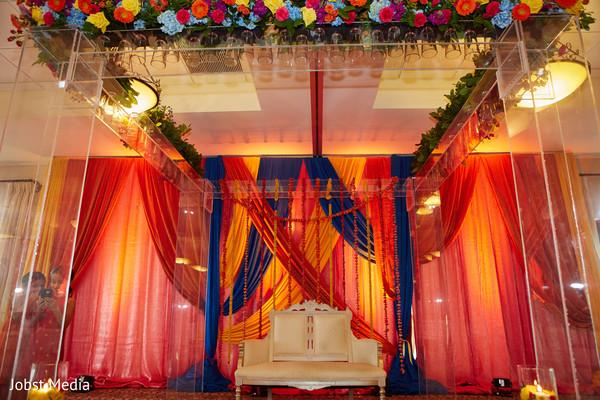 Incredible Mehndi party mandap decoration.