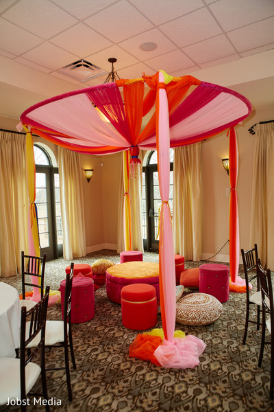 Lovely draping decoration for pre wedding party.