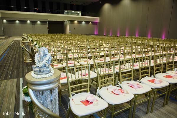 Incredible Indian wedding ceremony seats setup.