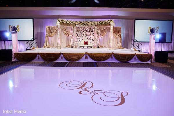 Marvelous Indian wedding personalized dance floor.